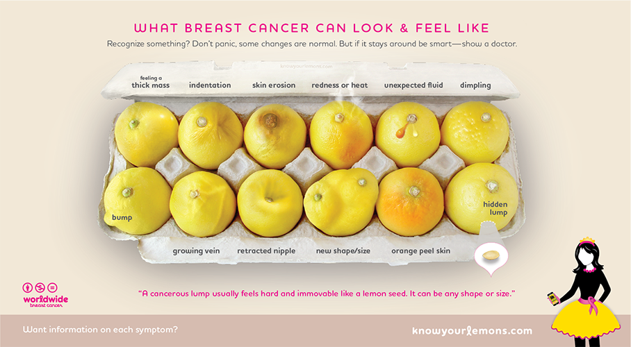 Worldwide Breast Cancer: Know Your Lemons | GiveGab